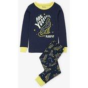 Hatley fantovska pižama z ozvezdjem volka, temno modra, 116