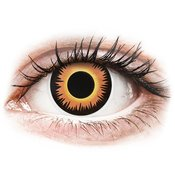 ColourVUE Crazy Lens-Orange Werewolf-brez dioptrije