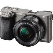 "SONY Fotoaparat + objektiv Alpha A6000 (Siva)+ 16-50mm  MILC, 24.3 Mpix, 3"", APS HD CMOS"