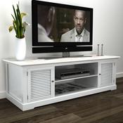 VIDAXL drveni stalak za TV, bijeli