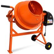 vidaXL Elektricna mješalica za beton, celicna, 63 L 220 W, narancasta
