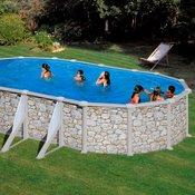 PLANET POOL bazen SOLO KIT 610P (610x375x120cm), (art. 4248), imitacija naravnega kamna