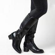 SAFRAN duboke ženske cizme LX601801, crne