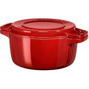 KitchenAid posuda s poklopcem, promjer 24 cm, crvena