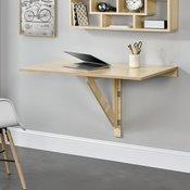 [en.casa]® zložljiva stenska pisalna ali jedilna miza (100x60x58cm), v videzu lesa