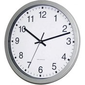 EuroTime Radijski kontrolirani zidni sat EuroTime 56831-07 30 cm x 4.3 cm srebrni