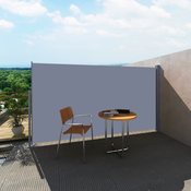 VIDAXL zložljiva stranska tenda za terase 180x300 cm siva
