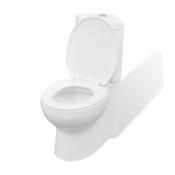 VIDAXL keramična kotna WC školjka, bela