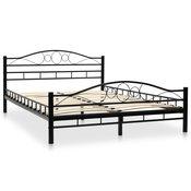 vidaXL Metalni okvir za krevet s podnicama 140 x 200 cm zaobljeni dizajn