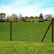 VIDAXL komplet ograje in stebričkov (25x1.5m), siv