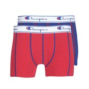 Champion 2 Pack Boxers Red/ Royal Blue Y081T red