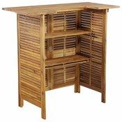Barski stol od masivnog bagremovog drva 110 x 50 x 105 cm