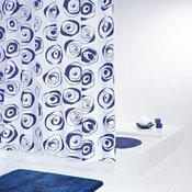 RIDDER tekstilna zavesa za kupatilo ANDY BLUE 180X200 41353