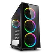 SHARKOON gaming ohišje TG4 RGB midiATX (z oknom), črno