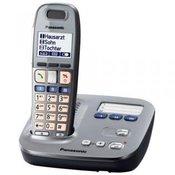 Panasonic Bežicni telefon za starije osobe Panasonic KX-TG6571, opticka signalizacija poziva, grafit, crn, KX-TG 6571