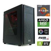 Računalnik MEGA 6000X Ryzen 7-2700/16GB/SSD500GB-NVMe/2TB/RTX2060-6GB/RGB