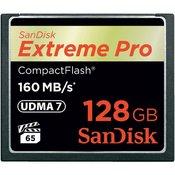 SANDISK spomiska kartica Extreme Pro CF 128 GB (160 MB/s)