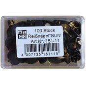 ALCO risalni žebljički, črni (100 kos)