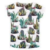 Bela majica sa printom kaktusa