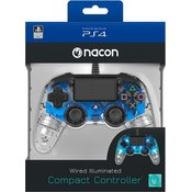 Bigben PS4 Compact Light Wired Controller prozirno-plavi