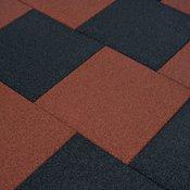Varnostne talne plošče 6 kosov guma 50x50x3 cm črne
