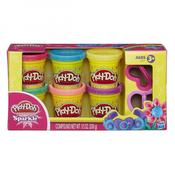 Masa za modeliranje HASBRO A5417, Play-Doh, Sparkle Compound Collection, svjetlucava masa, 6 boja