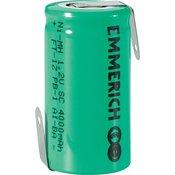 Emmerich Emmerich SUB C NiMH-akumulator, ZLF 1.2 V 4000 mAh ( x V) 22.5 mm x 43 mm