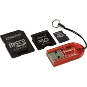 Micro SD 2GB w/SD & Mini Adapters + Card Reader