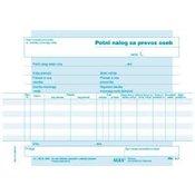 ALEA obrazec 4,7 Potni nalog za prevoz oseb A5