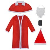vidaXL Božični Kostum Božiček Komplet s Plaščem
