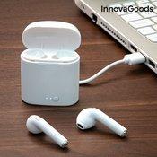 Brezžične (bluetooth) slušalke za iPhone in Android, bele