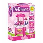 Qunsheng Toys, igraeka kuhinja sa dodacima-roze
