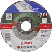 Bosch Set reznih ploca koljenastih 2609256332 za za metal Bosch promjera 115 mm 5 kom.