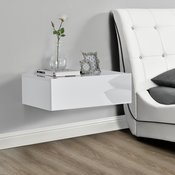 [en.casa]® nočna omara s predalom (46x30x15cm),  bela