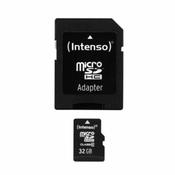 Intenso Kartica microSDHC Intenso, 32GB, klasa 10, sa SD-adapterom