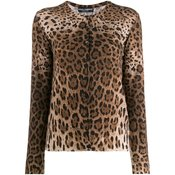 Dolce & Gabbana - leopard print cardigan - women - Brown