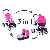 SMOBY voziček z globoko košaro Quinny 3v1