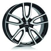 A16 5x108 et50 6.5x16 rial torino črna spredaj polirana 63.4 ( ford. jaguar. volvo )