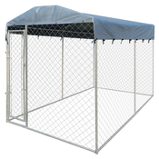 VIDAXL ojačani zunanji pesjak s strehico na vrhu (200x400x235cm)