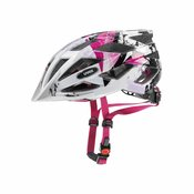 Uvex Mladinska kolesarska čelada Airwing White Pink Roza