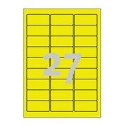Avery-Zweckform Vodootporne naljepnice L6105-20 Avery-Zweckform (63.5 mm x 29.6 mm), trajno prianjajuće, žuta, 540 kom.