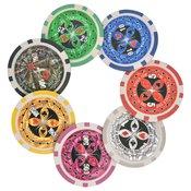 vidaXL Kombiniran Poker/Blackjack Set s 600 Laserskimi Žetoni Aluminij