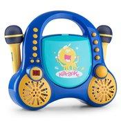 AUNA otroški karaoke sestav Rockpocket + 2 mikrofona, moder