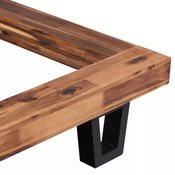 VIDAXL posteljni okvir iz masivnega akacijevega lesa (140x200cm)