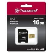 TRANSCEND 500S 16GB MicroSDHC 60 MB/s TS16GUSD500S