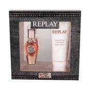 Replay True For Her darilni set parfumska voda 20 ml + losjon za telo 100 ml za ženske