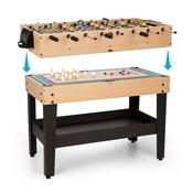 OneConcept Game-Star, stol za igranje, 15 igara, multigame, pretinac za odlaganje, MDF