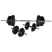 VIDAXL dvoročna utež + 2 enoročni uteži 60,5 kg