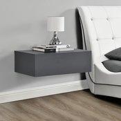 [en.casa]® 2x nočna omara s predaloma, set dizajnerskih stenskih polic - 46x30x15cm, imitacija betona/temno siva