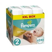 Pampers djecje pelene Premium Care 2 (Mini), 240 komada